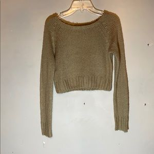 Forever 21 tan cropped sweater